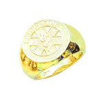 Mens 10K or 14K Yellow Gold Paramedic EMT Ring