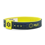 MyID Sport Medical Bracelet - Gray and Yellow