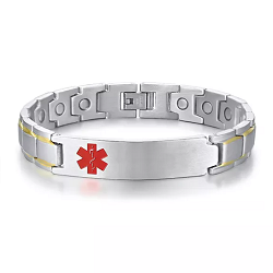 Gold Stripe Magnetic Medical ID Bracelet
