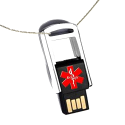 Key 2 Life® EMR Medi-Chip Mini Flip USB Dog Tag