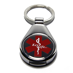 Key 2 Life® EMR Medi-Chip Raindrop USB Key Ring