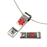 Key 2 Life® EMR Medi-Chip Tear Drop USB Necklace