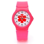 Kid's Medical ID Watch - Dark Pink