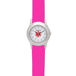 Kid's Medical ID Watch - Hot Pink