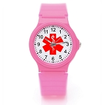 Kid's Medical ID Watch - Pink