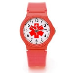 Kid's Medical ID Watch - Red