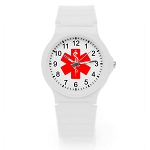 Kid's Medical ID Watch - White