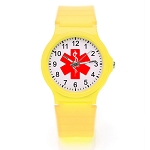 Kid's Medical ID Watch - Yellow