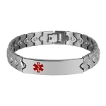 Gecko Link Stainless Steel Magnetic Medical ID Bracelet