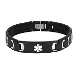 Futura Link Stainless Steel Medical ID Bracelet - Black