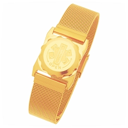 Men's SOS Emergency Medical ID Bracelet - Gold Plated Mesh