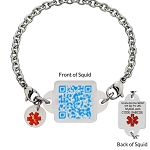 My ID Square Squid Square Medical Bracelet - Baby Blues