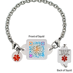 My ID Square Squid Square Medical Bracelet - Distant Galaxy