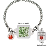 My ID Square Squid Square Medical Bracelet - Enchanted Forest