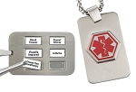 Sabona My Conditions Medical ID Necklace