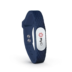 MyID Hive Medical ID Bracelet - Navy