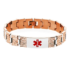 Rose Gold Tree Design Medical ID Bracelet