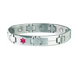 Men's Sabona Magnetic Medical ID Bracelet - CUSTOM INFO