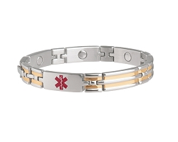 Unisex Sabona Magnetic Medical ID Bracelet - CUSTOM INFO