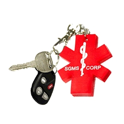 Key 2 Life® EMR Medi-Chip Star of Life USB Key Chain