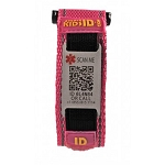 SmartKidsID Child Medical ID Sport Bracelet - PINK