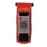 SmartKidsID Child Medical ID Sport Bracelet - RED