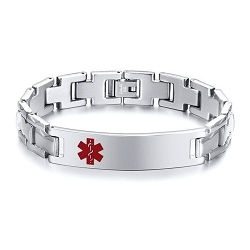 Splendor Stainless Steel Medical ID Bracelet