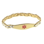 The Wave Medical ID Bracelet - Gold