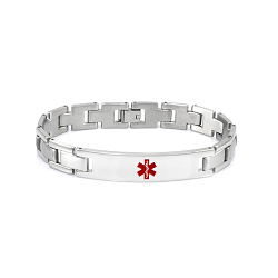 Titanium Link Medical ID Bracelet