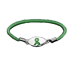 Traumatic Brain Injury Awareness Silver Stretch Charm Bracelet