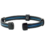 Trio Cable Sabona Magnetic Bracelet - Black with Blue