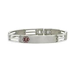 Triple Bar Titanium Medical ID Bracelet