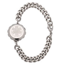 Unisex SOS Emergency Medical ID Bracelet - Stainless Steel