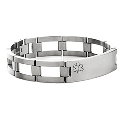 Vigor Titanium Medical ID Link Bracelet