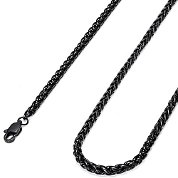 Wheat Chain Necklace - Black Plated Stainless Steel