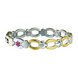 Women's Sabona Magnetic Medical ID Bracelet - CUSTOM INFO