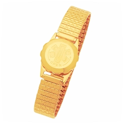 Women's SOS Emergency Medical ID Bracelet - Gold Plated Expansion
