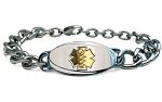 Titanium Curb Chain Medical ID Bracelet - Large Gold