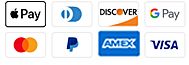 We accept credit and debit cards, PayPal, Apple Pay and Google Pay