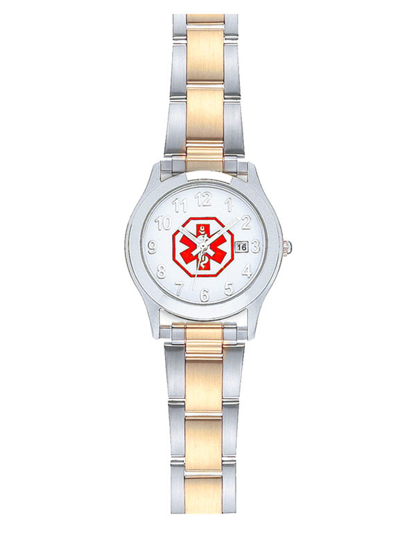 Women's Medical ID Link Watch - Two Tone