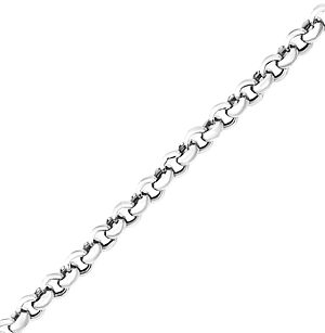 14K White Gold Rolo Chain Necklace - 2.5mm Width