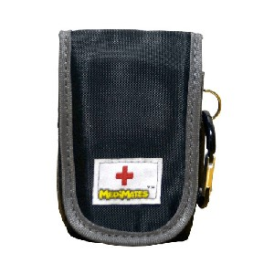 AllerMates Small Medicine Case for Asthma Inhalers and More - Black and Gray
