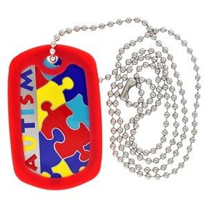 Autism Puzzle Piece ID Necklace