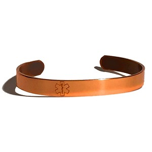 Elegant Copper Medical ID Bracelet