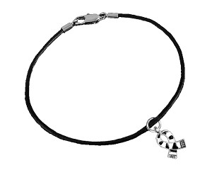 Ehlers Danlos Zebra Print Awareness Ribbon Leather Bracelet