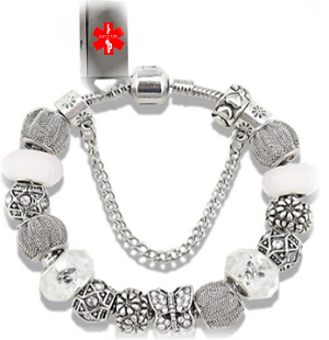 Key 2 Life® EMR Medi-Chip Dangling Charms Bracelet