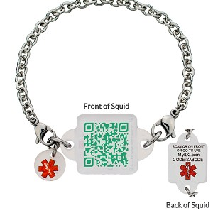 My ID Square Squid Square Medical Bracelet - Emerald City