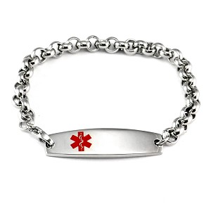 Rolo Chain Stainless Steel Medical ID Bracelet