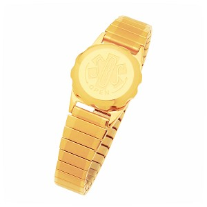 Women's SOS Emergency Medical ID Bracelet - Gold Plated Duet Expansion