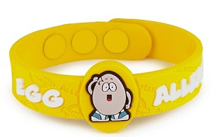 Egg Allergy AllerMates Wristband